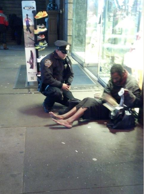 cop and homeless