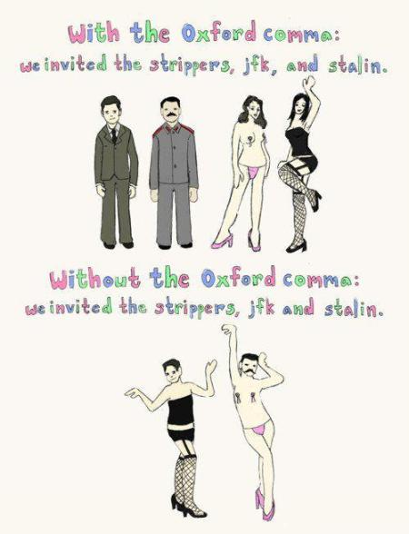 SATP oxford comma
