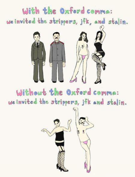 SATP oxford comma